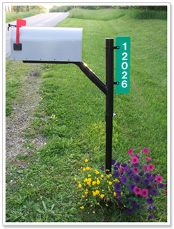 snowplow resistant mailbox post system