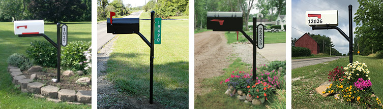mailbox post. Rotating Mailbox Post System
