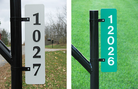 Green House Number Signs